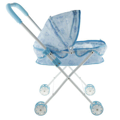 Lovely Baby Doll Buggy Stroller, Blue Soft Plastic Handles a