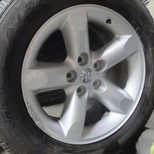"DODGE FACTORY ALLOY 20"" RIMS / WHEELS WITH GOODYEAR WRANGLER SRA 275/60R20 TIRES 85% TREAD"