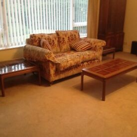 2 Seater sofa & 2 matching armchairs