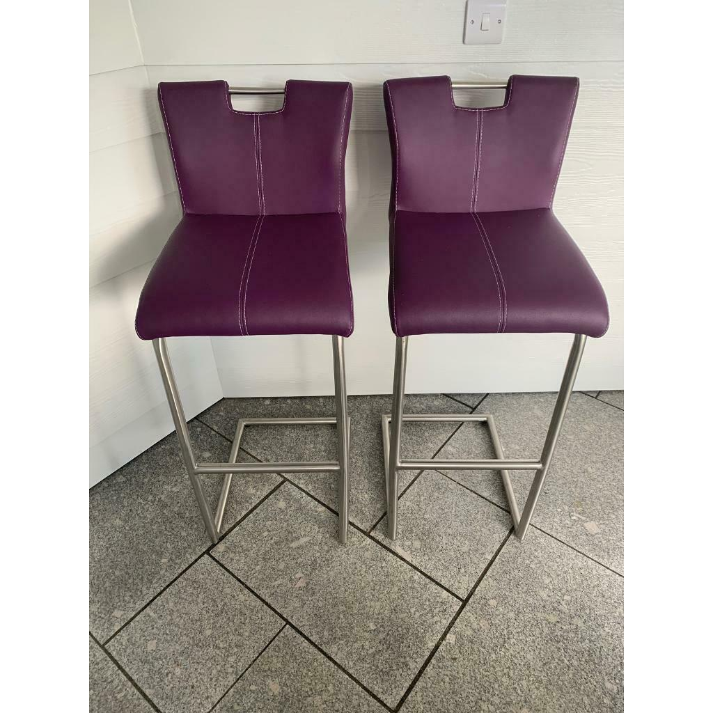 Furniture Village Ideas Handle Back Bar Stools X2 Purple In Chatham Kent Gumtree