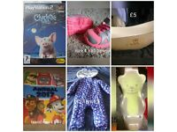 Mix bits for sale, 12-18m snow suit, nike trainers, ps2 game baby bath etc