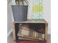 Vintage French Wine Crates