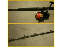 Brand New 6ft 40-50lbs Boat Fishing Rod & Brand New Reel With 35lb Line