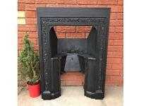 Antique Cast Iron Fireplace Fire Grate Vintage Fire Place Surround Hob Grate