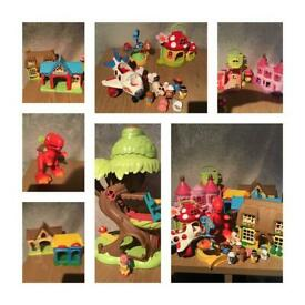 Toy bundle happyland and other mixed play bundle little people