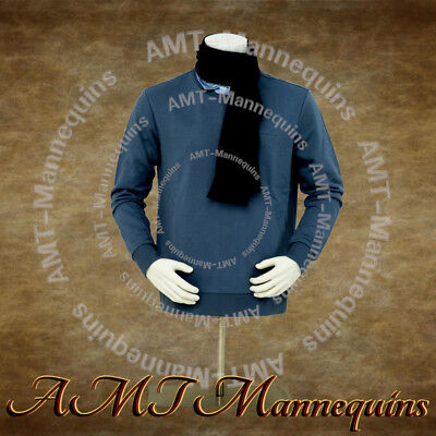 Ymt2-bw Male Realistic Half Body Mannequinmetal Standwhite Display Dress Form