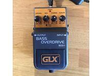 Bass Guitar Overdrive Effects Pedal