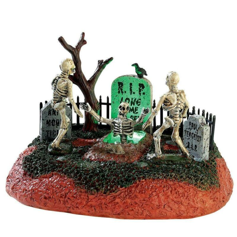 Lemax Spooky Town 2017 LONG TIME NO SEE! #74203 NRFB Light & Motion Table Acc *