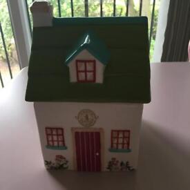 Kristie Allsopp house cookie jar - green