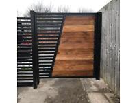 Wooden metal gates