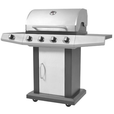 Gas Barbecue BBQ Grill 4 + 1 Burners Outdoor Feast Cooking  And Eating Durable