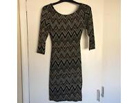 Glittery bodycon dress UK size 8