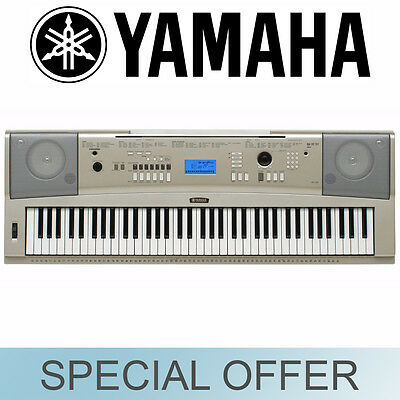 Yamaha 76 Key Full Size Keyboard Piano Style Silver w/ Stand YPG235MS - NEW