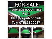 Supreme winner Pool Table ideal pub or club