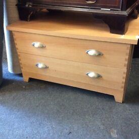 Light oak tv chest