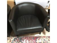 IKEA Faux Leather Chair lounge, tub chair ( 1 available ) £15
