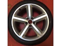 18'' GENUINE AUDI A5 S LINE ALLOY WHEELS AND TYRES 5X112 FITMENT