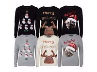 Ladies Novelty Christmas Jumper Tunic sweater