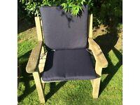 Garden furniture seat cushions