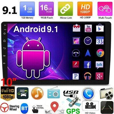 "10.1"" Car Radio Stereo Android 9.1 GPS Navi WiFi Quad Core 2Din + Backup Camera"