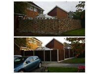 Fence construction, decking, patio, shed, decking light installation