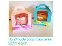 Handmade Soap Cupcakes Single Box Gift