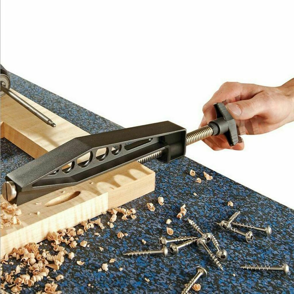 Pull Woodworking Slant Hole Jig Joints Drilling Pocket Hole Clip Fixed Clamp