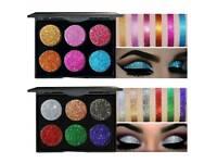 6 Pressed Glitter Eyeshadow Palette