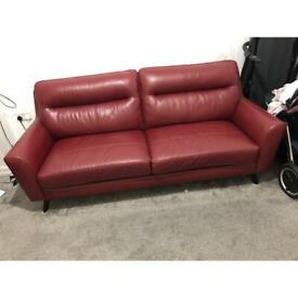 Dfs leather sofa 3 and 2 seater.