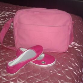Lacostee bag and shoes