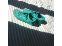 turquoise vans old skool
