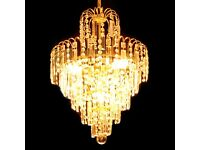 Chandelier crystal look stunning in any room new was £250
