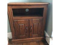 Solid oak - dark - tv cabinet