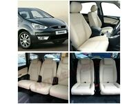 CAR LEATHER SEATCOVERS FOR FORD GALAXY SEAT ALHAMBRA VAUXHALL ZAFIRA PEUGEOT 5008 CITREON C4 GRAND