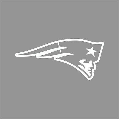 New England Patriots Nfl Team Logo 1 Color Vinyl Decal Sticker Car Window Wall