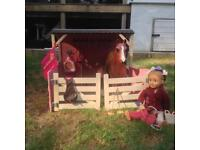 Our Generation horse and rider doll, stable and tack.