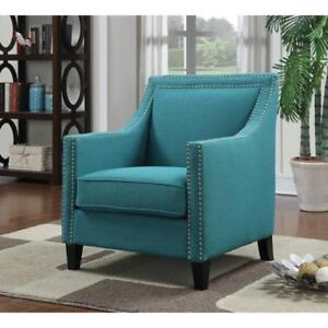 Erica Contemporary Accent Chair - Teal
