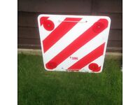 Motorhome Bikerack Warning Sign.