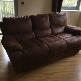 HARVEYS CHOCOLATE BROWN 3 SEATER