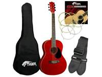Tiger Acoustic Guitar + Extras!