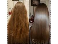 KERATIN HAIR straightening treatments 35£