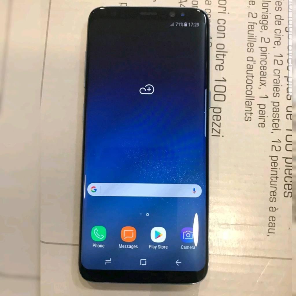 Samsung galaxy s8 blue 68gb unlocked mint