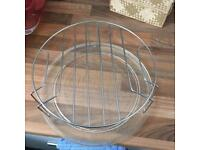 Microwave glass plate and grill