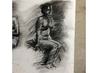 Life Drawing Class. Bournville. Birmingham.