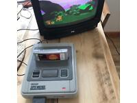 PYE gaming analogue small colour TV - retro 80s 90s retro vintage