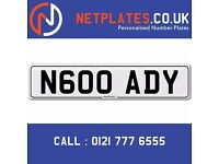 'N600 ADY' Personalised Number Plate Audi BMW Ford Golf Mercedes VW Kia Vauxhall Caravan van 4x4