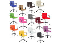 Brand New PU Faux Leather Computer Chair Chairs Office Desk Swivel Studio Salon Barber Wheels