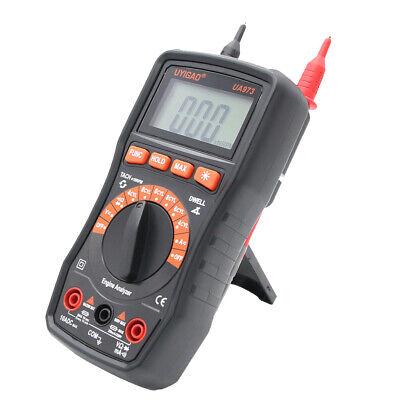 Digital Lcd Automotive Tester Multi Meter Dwell Angleengine Rev Tester