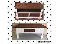Rustic/Farmhouse tv stand and coffee table set
