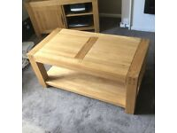 Oak furniture land 'ALTO' coffee table £170, also matching to unit, £200 or £300 for both